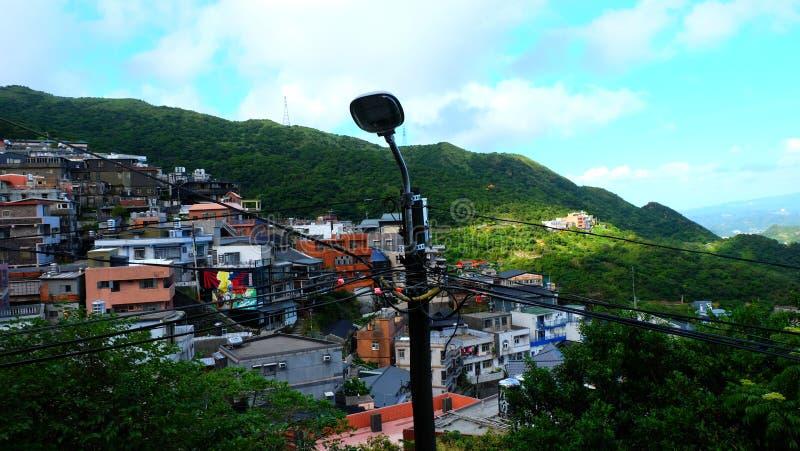Jiufen jest halnym miasteczkiem w northeastern Tajwan zdjęcie royalty free