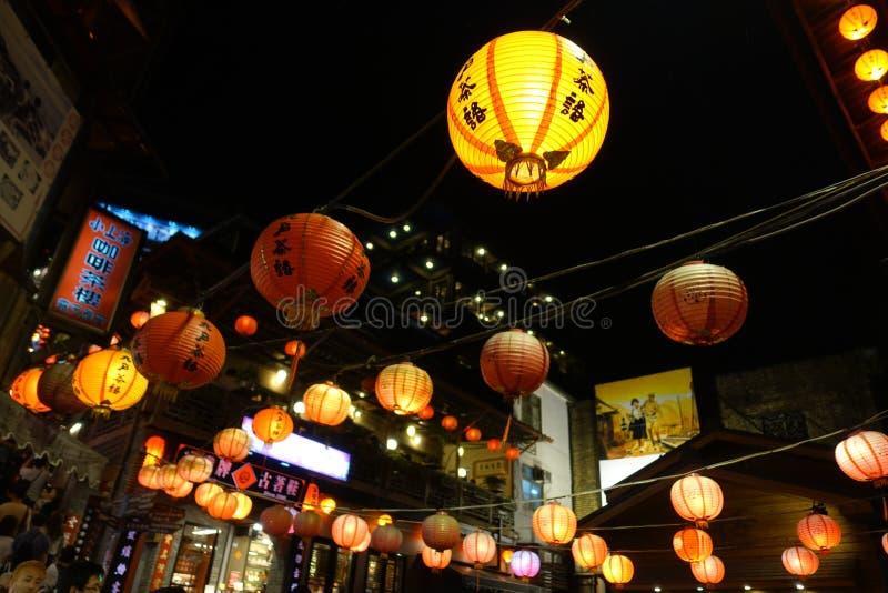 Jiufen uliczny widok w Taipei obrazy stock