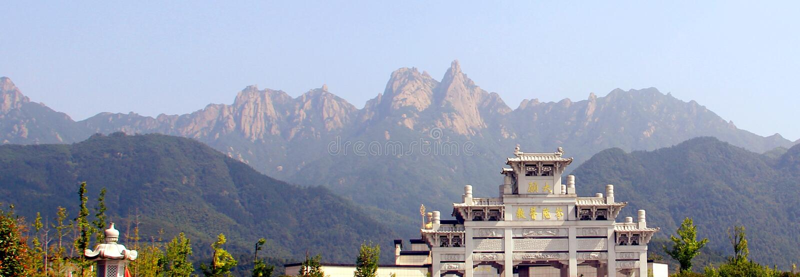 jiuhuashan中国佛教著名的山  库存照片