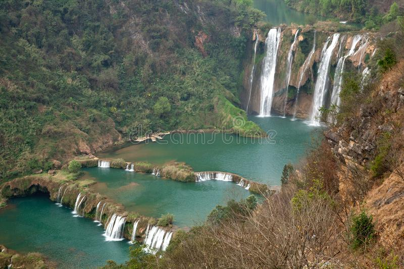 The Jiulong nine dragon waterfall yunnan, china. stock photography