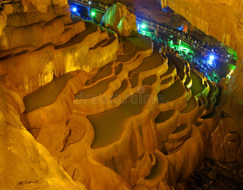 Download Jiuxiang Stalactite Terrace Stock Photo - Image: 14851896