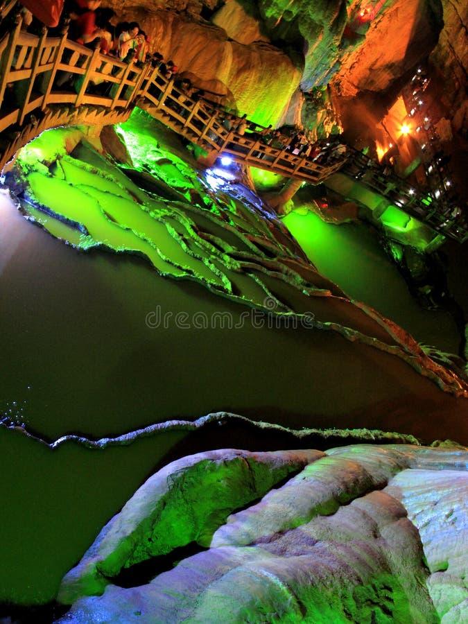 Download Jiuxiang Stalactite Terrace Stock Image - Image of shape, karst: 14851937