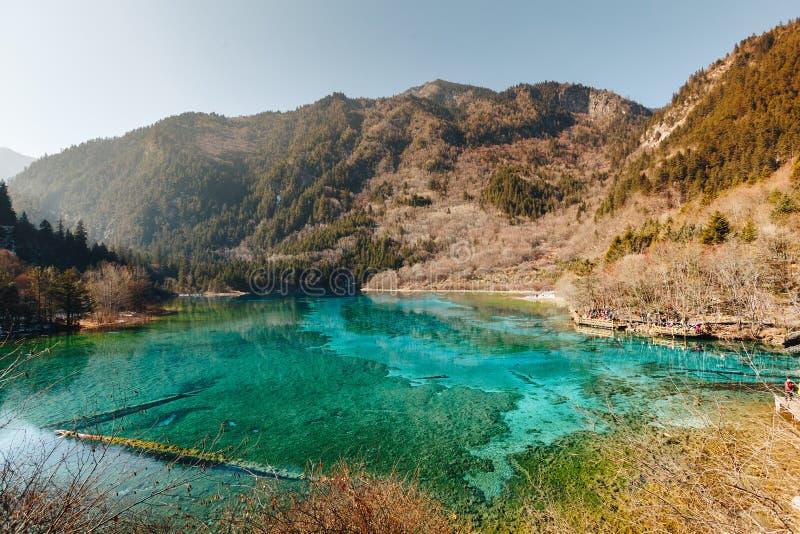 Jiuzhaigou Dolinny park narodowy Chiny zdjęcie stock
