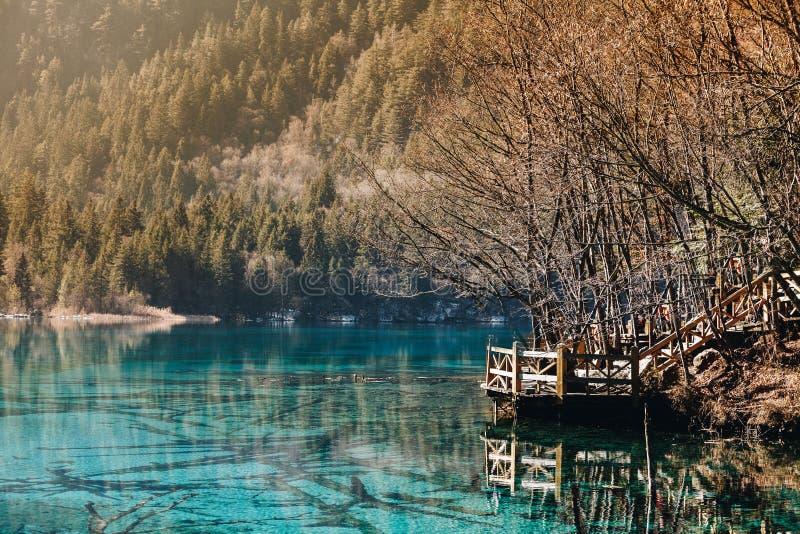 Jiuzhaigou Dolinny park narodowy Chiny fotografia stock