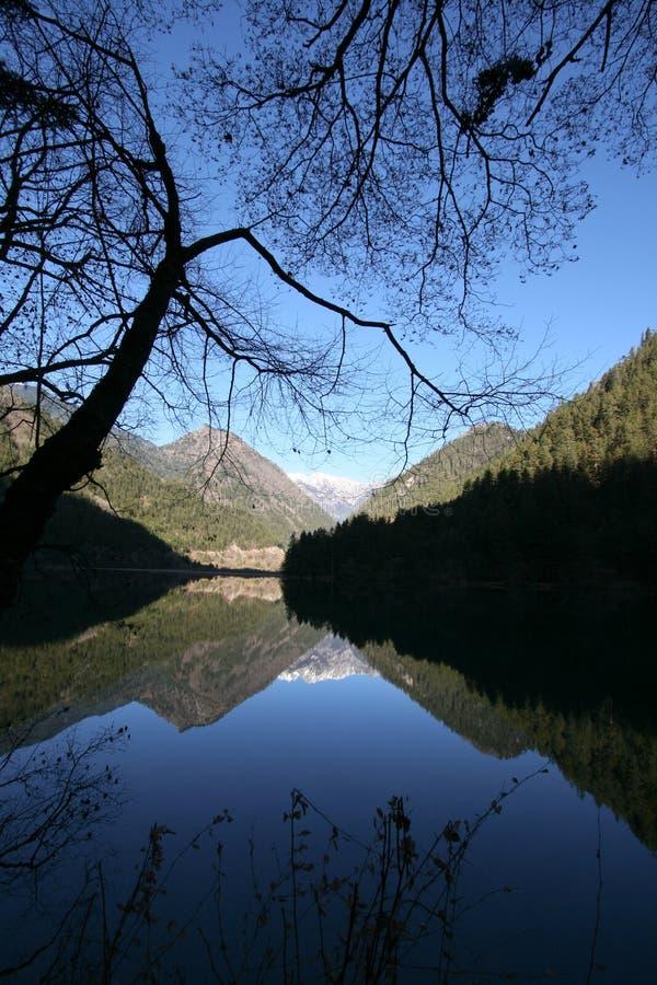 Jiuzhaigou Mirror Lake stock photos