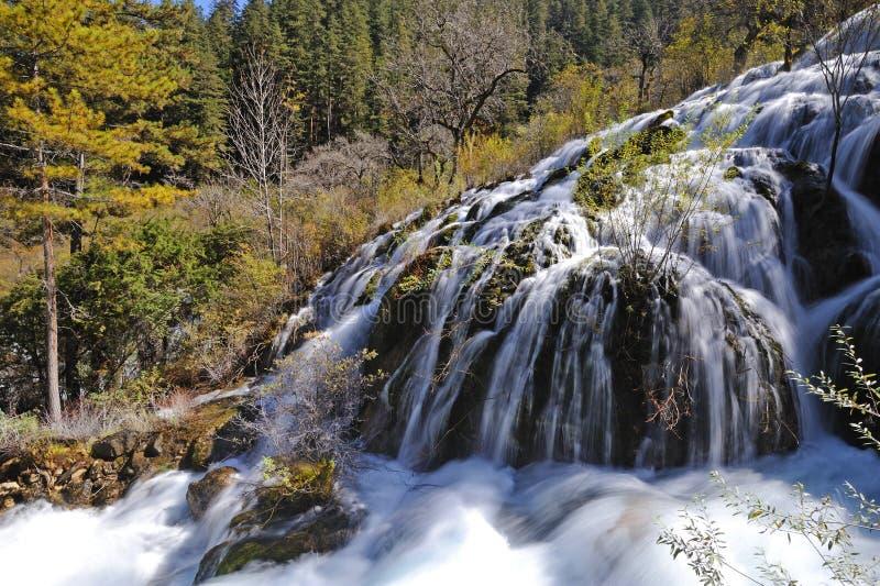 Jiuzhaigou shuzheng waterfall stock photo