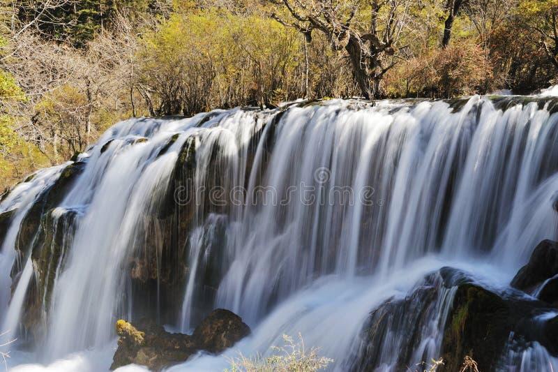 Jiuzhaigou shuzheng waterfall royalty free stock photography