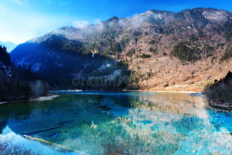 Jiuzhaigou wuhua lake royalty free stock images