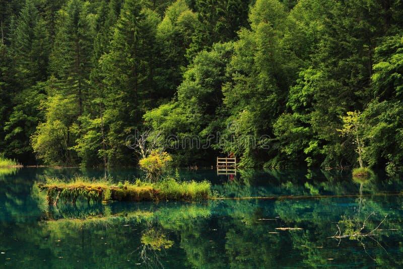 Jiuzhaigou wuhuahai Sommer stockfotos