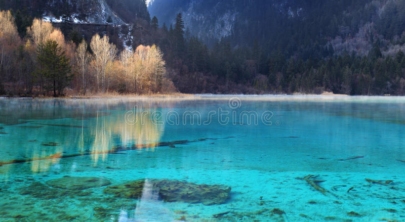 Download Jiuzhaigou wuhuahai winter stock photo. Image of fairy - 23323132