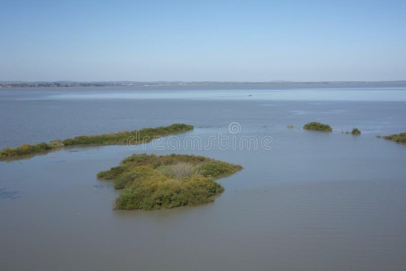Jixistad van China ` s, Heilongjiang-provinciestemming Kai Lake royalty-vrije stock afbeeldingen
