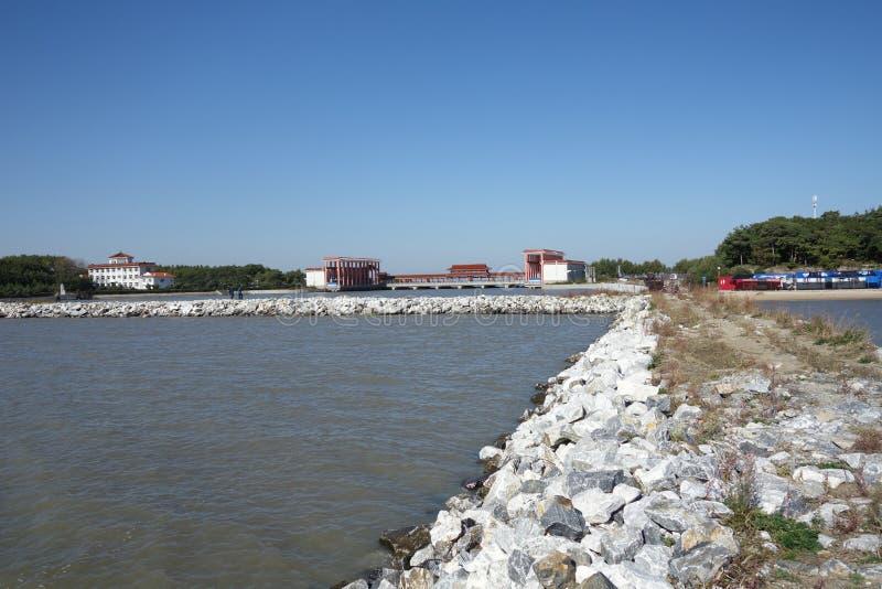 Jixistad van China ` s, Heilongjiang-provinciestemming Kai Lake stock foto's