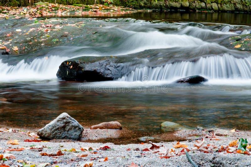 Jizerske berg, Kamenice flod, Tjeckien royaltyfri fotografi