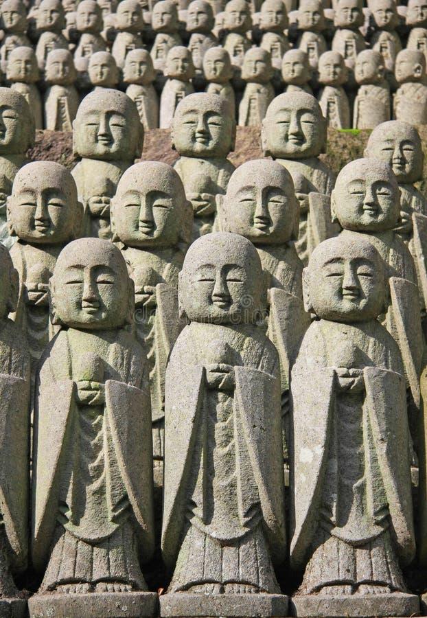 jizo雕象石头 免版税库存照片