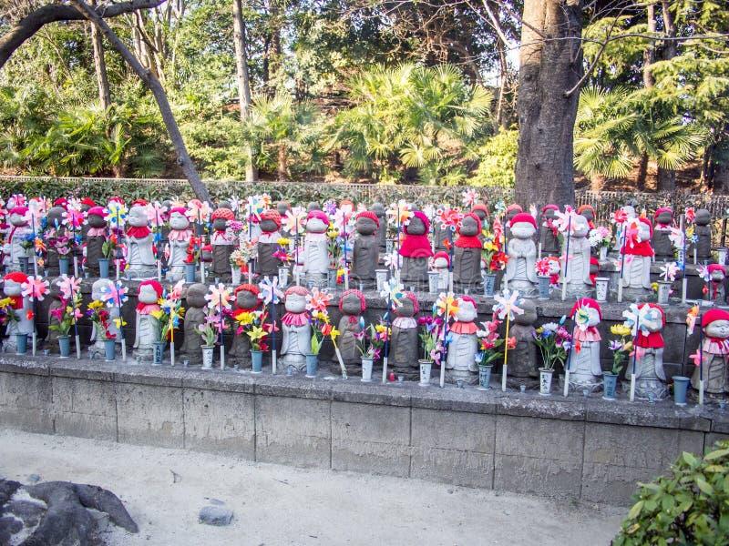 Jizo en el templo Tokio Japón de Zojoji fotos de archivo libres de regalías