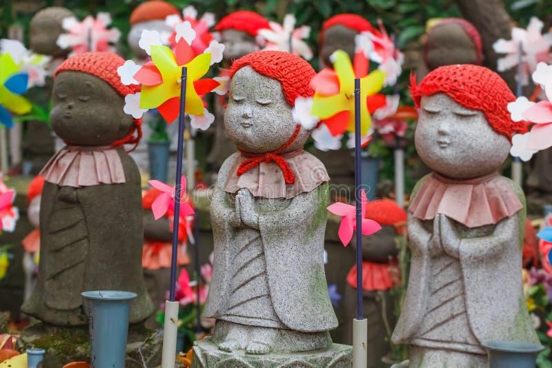 Jizo at Zojoji Temple in Tokyo royalty free stock photo