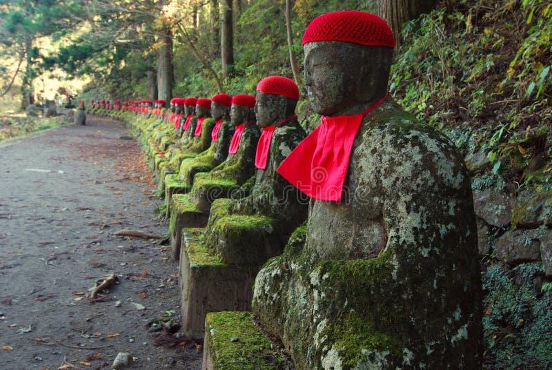 Jizos japonais photographie stock libre de droits