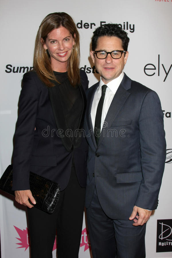 JJ Abrams. LOS ANGELES - SEP 10: JJ Abrams & Wife arriving at the 2011 Pink Party at Drai's - W Hollywood on September 10, 2011 in Los Angeles, CA stock photography