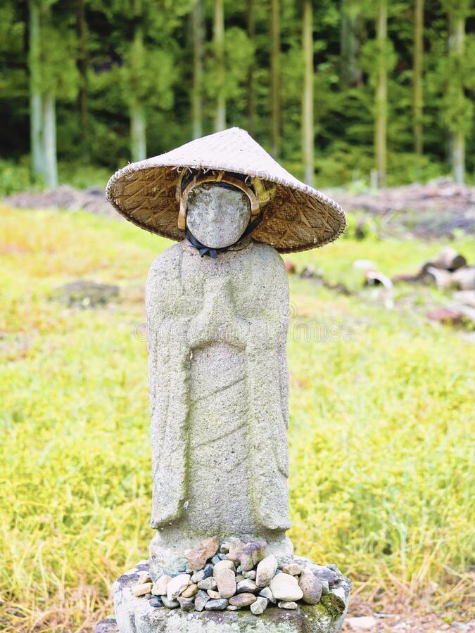 Jjizo japan. I took a picture of Jizo on the roadside. I don`t know exactly when it was probably 300 years ago. Japan royalty free stock photography