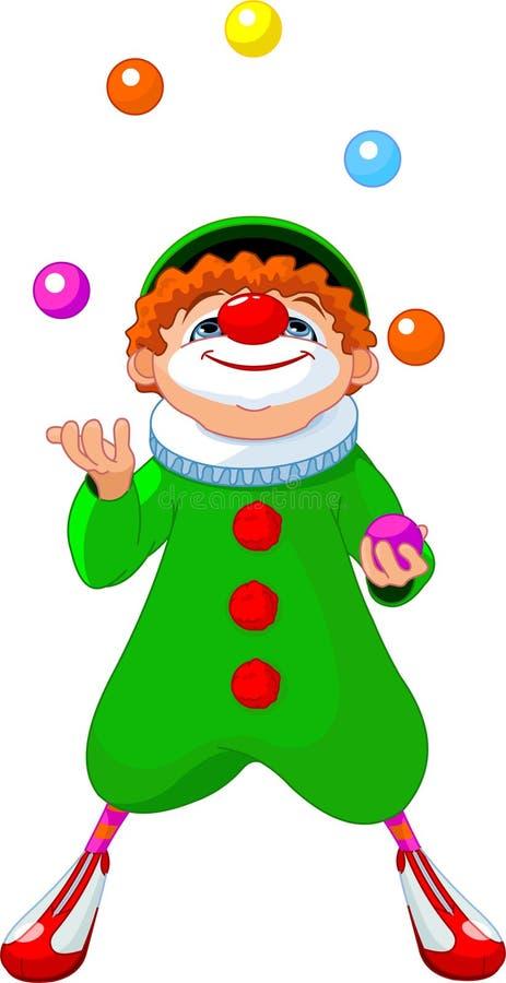 Jjuggling Clown vector illustration