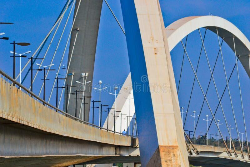 The JK Bridge in Brasilia. The Juscelino Kubitschek Bridge in brasilia royalty free stock image