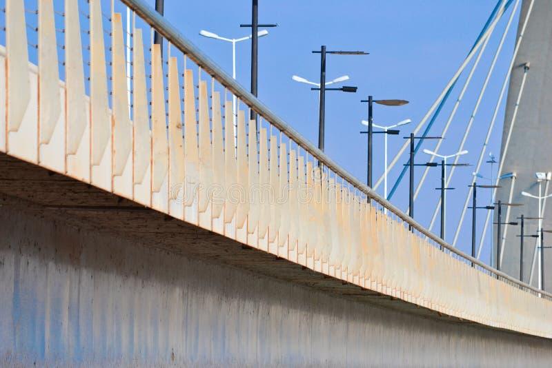 The JK Bridge in Brasilia. The Juscelino Kubitschek Bridge in brasilia royalty free stock images