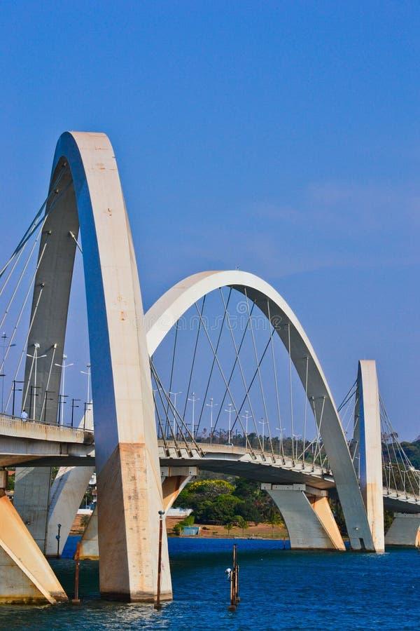 The JK Bridge in Brasilia. The Juscelino Kubitschek Bridge in brasilia royalty free stock photos