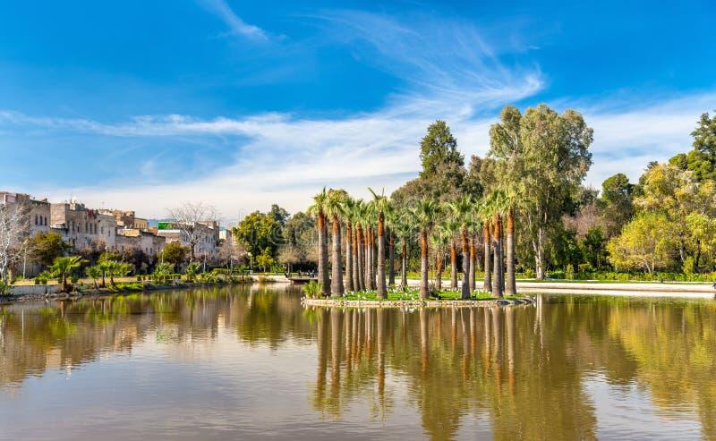 Jnan Sbil,皇家公园在Fes,摩洛哥 库存照片