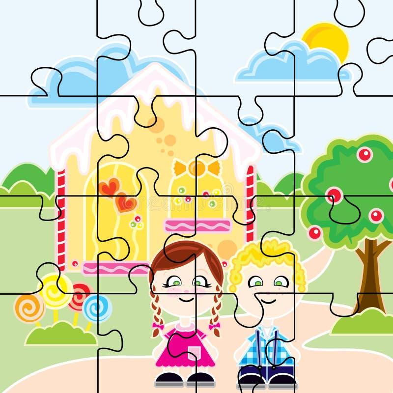 João e Maria Puzzle royalty-vrije illustratie