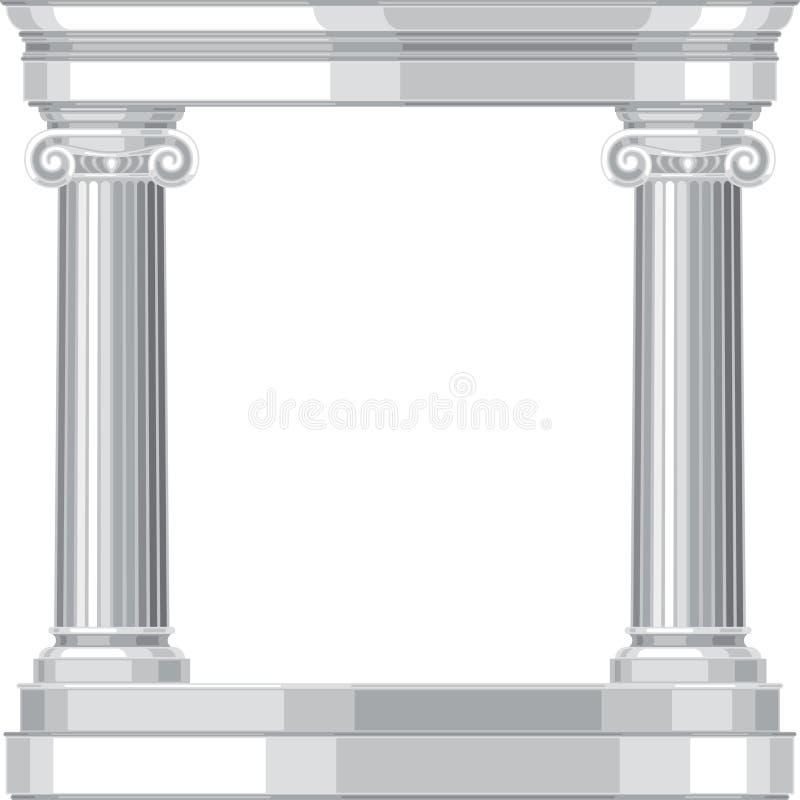 Jońska realistyczna antykwarska grecka świątynia z kolumnami ilustracji