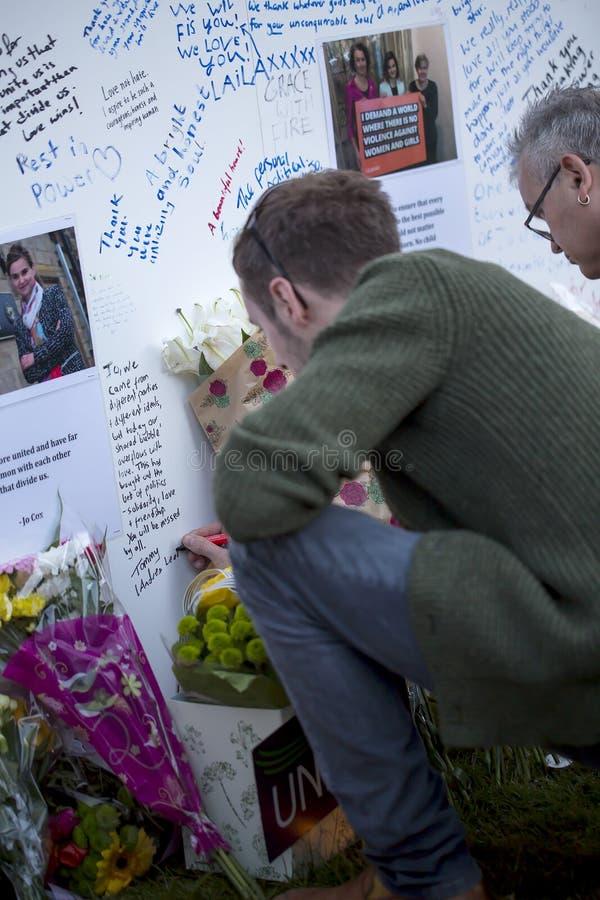 Jo Cox's Vigil. royalty free stock photos
