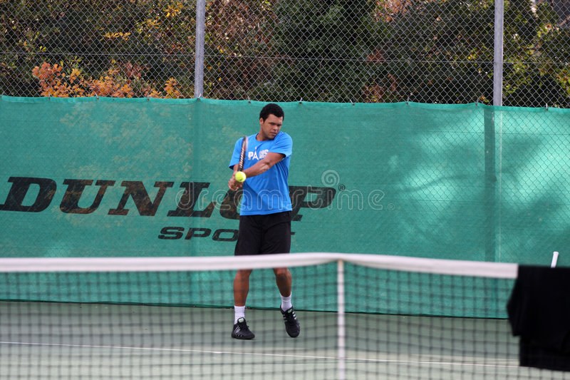 Download Jo-Wilfried Tsonga During A Practice Session Editorial Photo - Image: 7459721