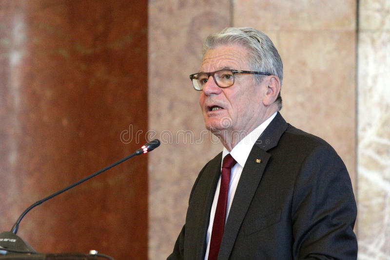 Joachim Gauck - President of Germany royalty free stock image