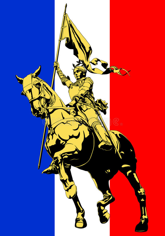 Joan of Arc. Illustration vector stock illustration