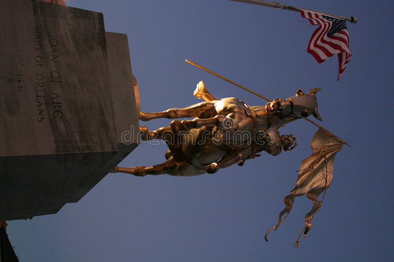 Joan of Arc statue royalty free stock image