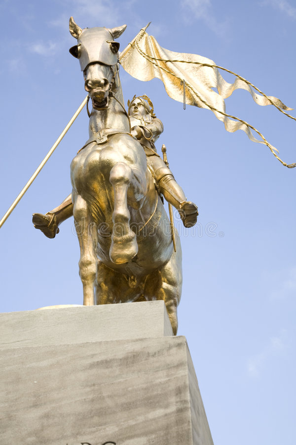 Joan Of Arc Statue 2 Royalty Free Stock Photography