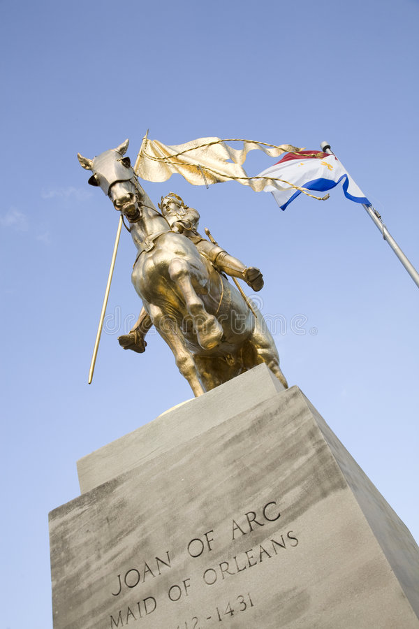 Joan of Arc Statue 3 royalty free stock photo