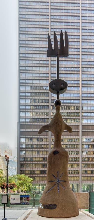 Joan Miro - γλυπτό του Σικάγου στοκ φωτογραφία με δικαίωμα ελεύθερης χρήσης
