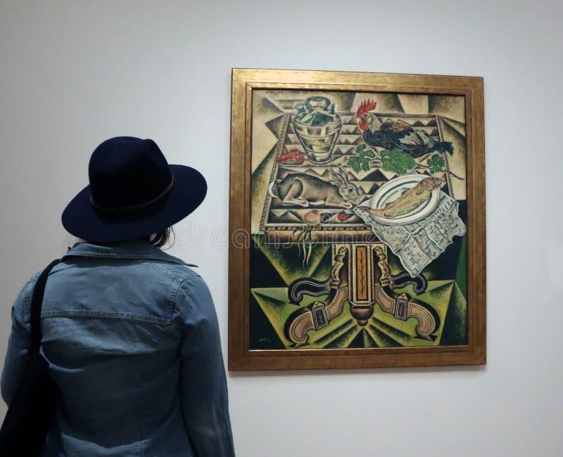 Joan Miro At The MOMA stock foto's