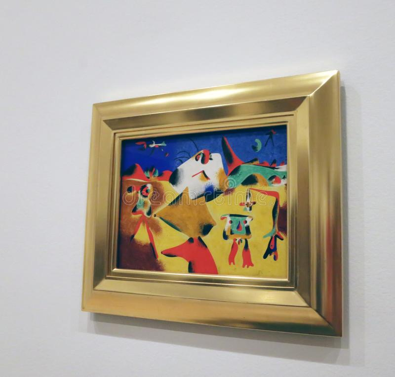 Joan Miro At The MOMA imágenes de archivo libres de regalías