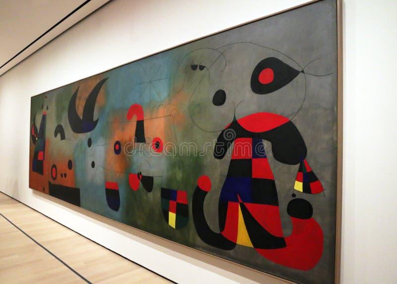 Joan Miro At The MOMA fotografía de archivo