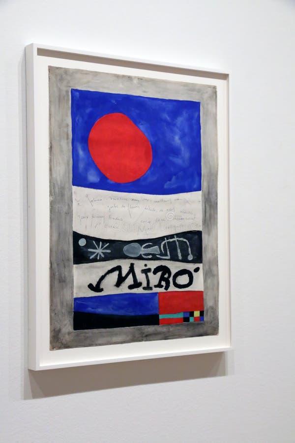 Joan Miro At The MOMA fotografia stock libera da diritti