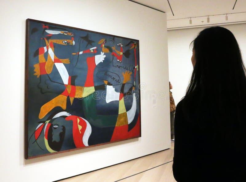 Joan Miro At The MOMA images stock