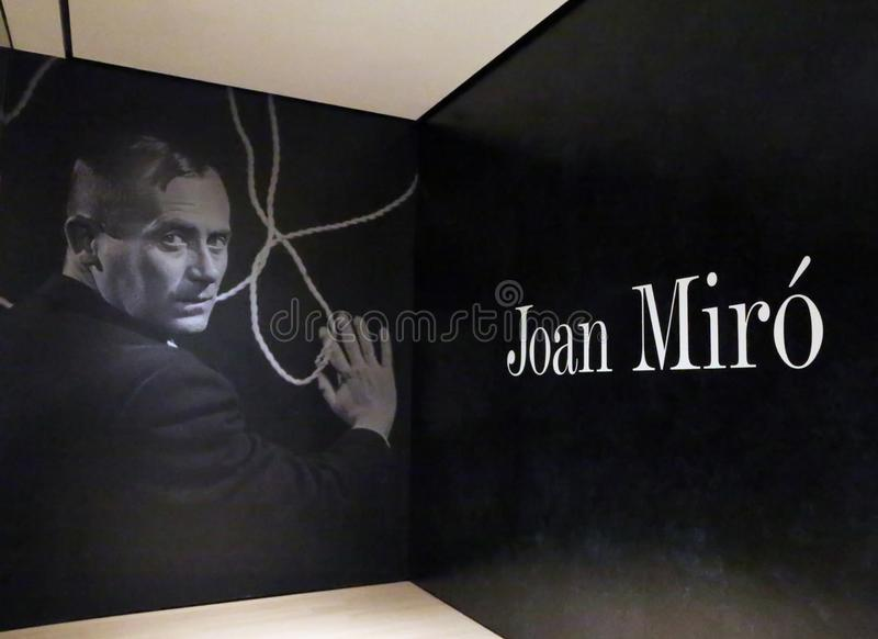 Joan Miro At The MOMA image stock