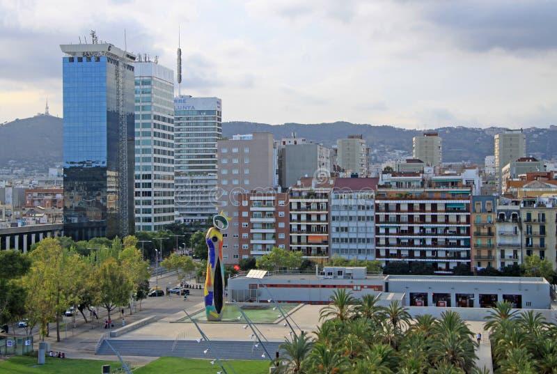Joan Miro Park em Barcelona imagens de stock