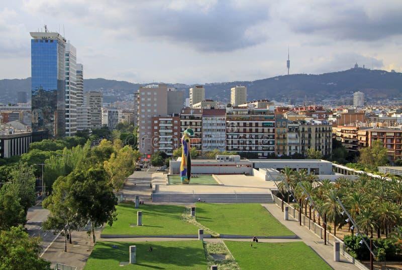 Joan Miro Park em Barcelona foto de stock