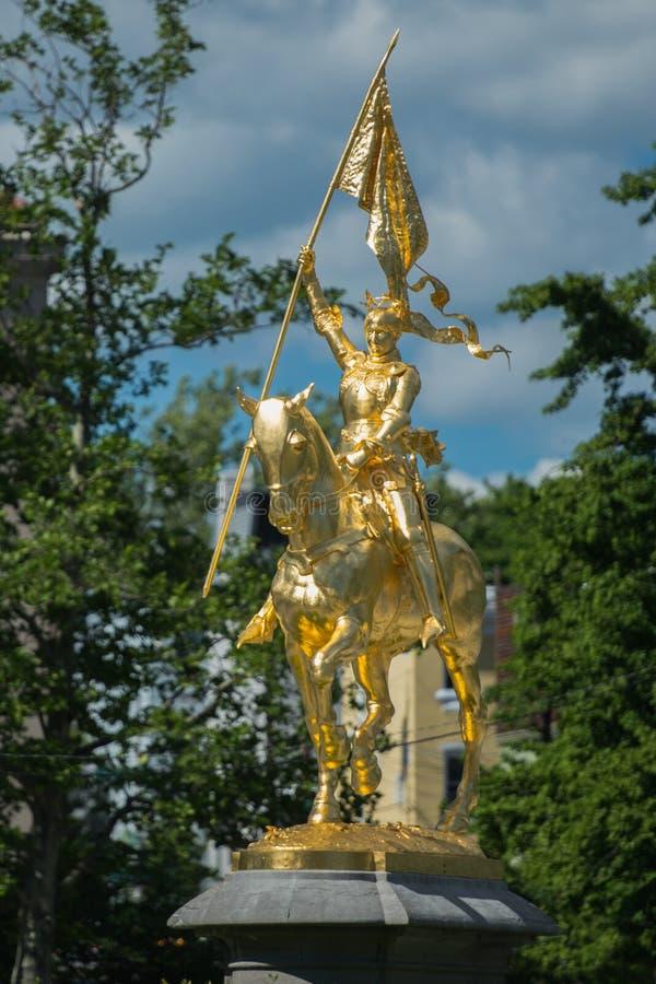 Joan van Boogstandbeeld in Philadelphia stock afbeelding