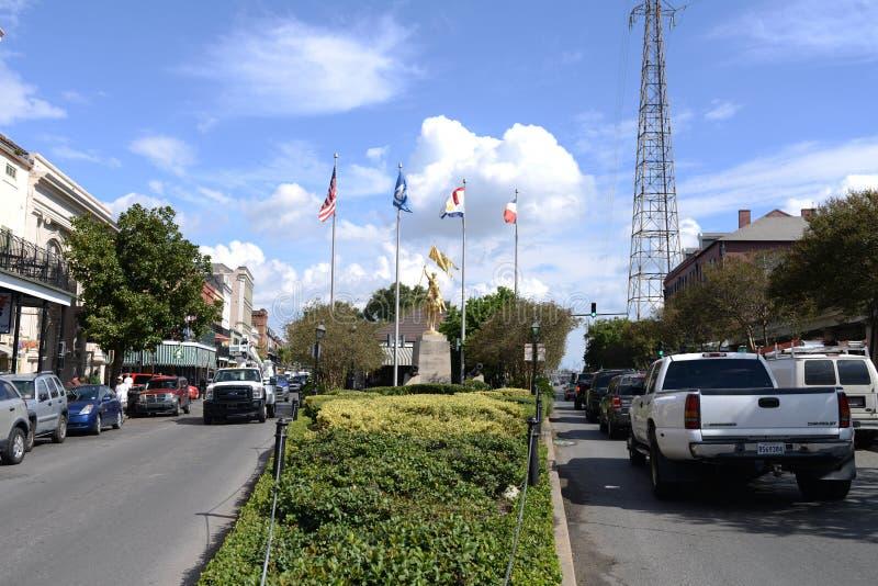 Joana da estátua do arco de Nova Orleães fotografia de stock