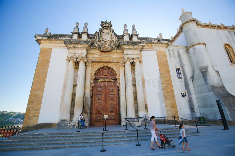 Joanina Library bij de Universiteit van Coimbra, Portugal stock foto's