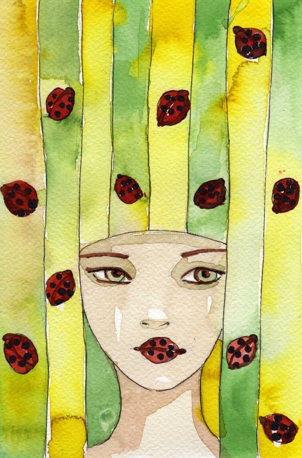 Joaninha ilustração royalty free